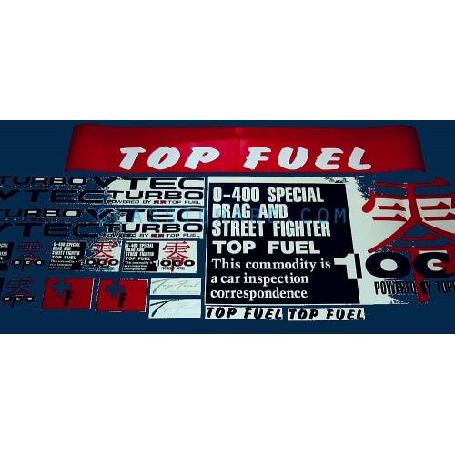 Custom Rear Window Decals >> Top Fuel ZERO 1000 8.5inch decal x 2 pcs