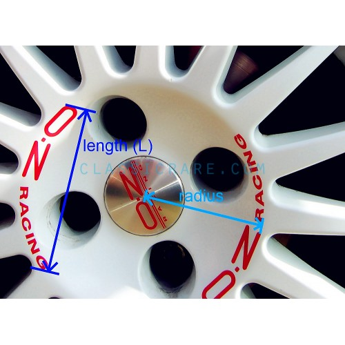 Oz Racing O Z 3 5 8inch Curved Alloy Wheel Decal X 4 Pcs