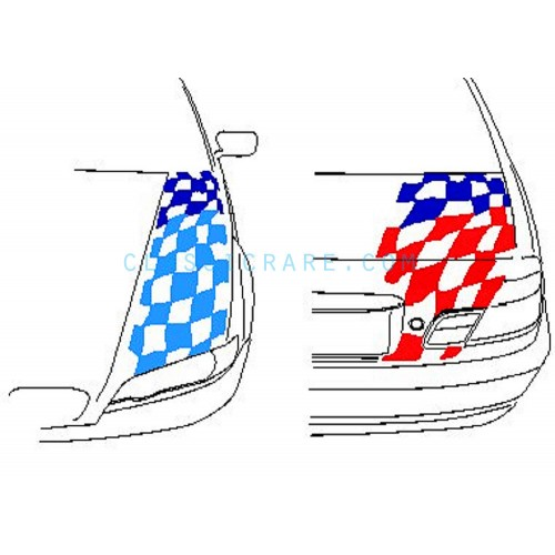 bmw motorsport checkered flag 6inch decal style 1 x 2 pcs. Black Bedroom Furniture Sets. Home Design Ideas