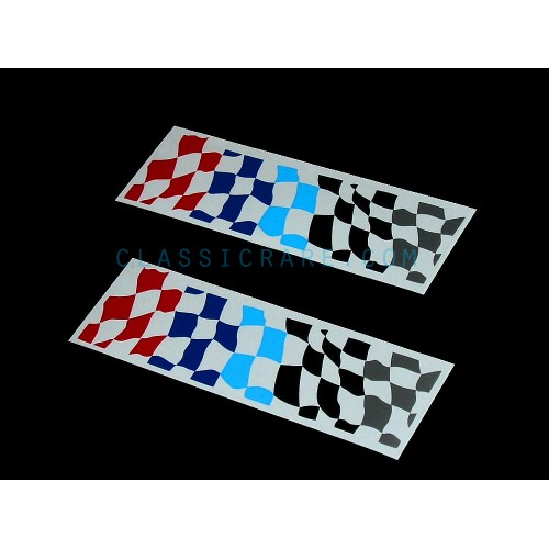 Bmw Motorsport Checkered Flag 6inch Decal Style 1 X 2 Pcs