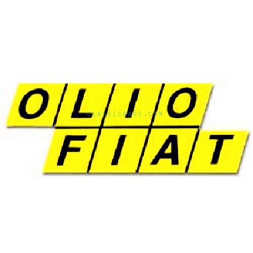 Olio Fiat 6inch Decal X 2 Pcs