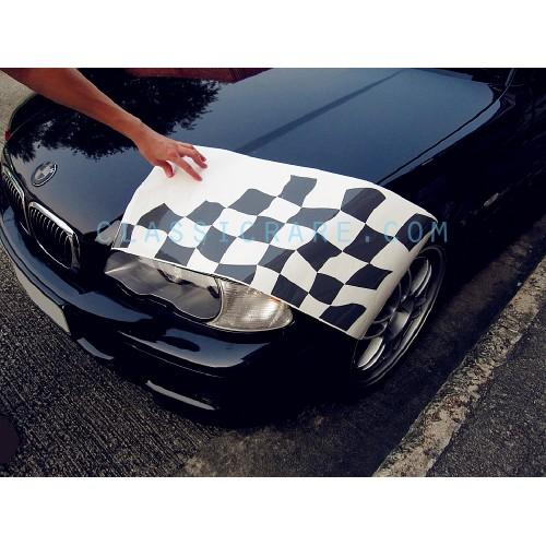bmw motorsport checkered flag bonnet trunk decal style 2. Black Bedroom Furniture Sets. Home Design Ideas