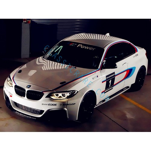 bmw f20 m performance side stripe decal style 1 x 1 pair. Black Bedroom Furniture Sets. Home Design Ideas