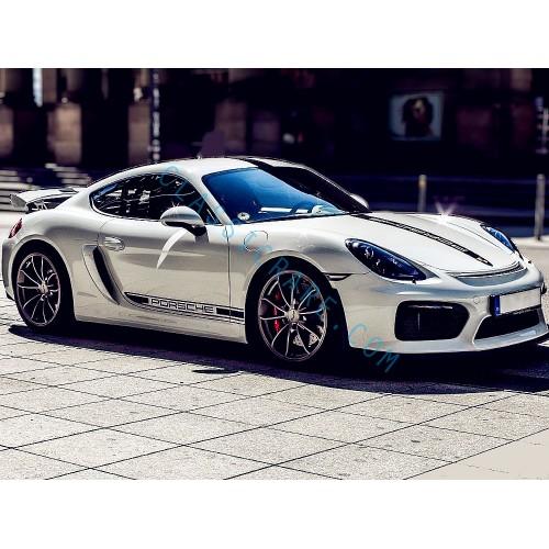 Porsche Motorsport GT4 Style Whole Body Stripes x 1 set (middle)